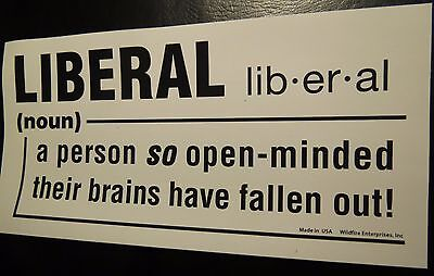 LOT OF 20 LIBERAL SO OPEN MINDED BRAINS FELL OUT STICKERS Trump $ their fallen