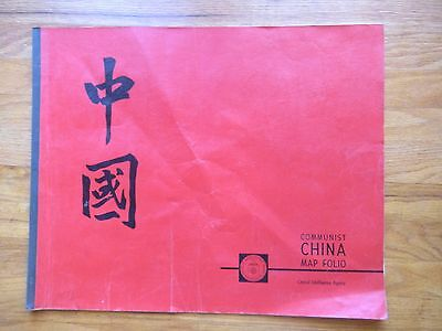 Central Intelligence Agency COMMUNIST CHINA MAP FOLIO, 17 Maps, Printed in1967