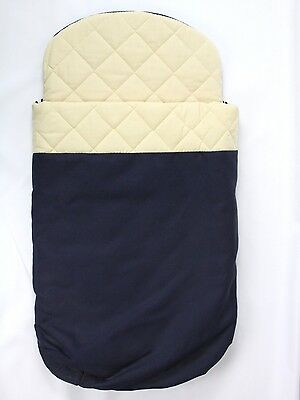 Bugaboo Frog Stroller Bassinet Cover Sleeping Bag Navy Blue Quilted
