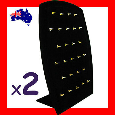 PREMIUM Quality 2X Black Velvet Pendant Display Stand-Padded | AUSSIE Seller