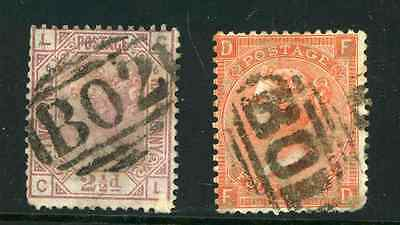 Egypt GB QV 21/2d and 4d used with BO1 cancels