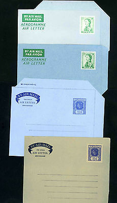 Fiji four unused QEII stationery air letters in good condition