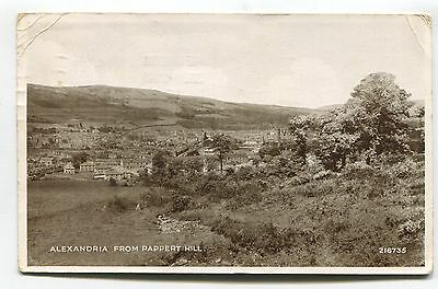 Alexandria, Dumbartonshire - from Pappert Hill - 1943 used postcard