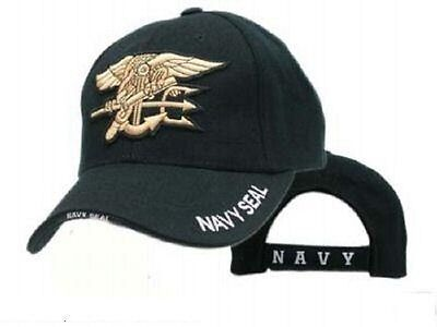 US NAVY USN SEAL LOGO Military Army Cap Mütze Hat Black schwarz
