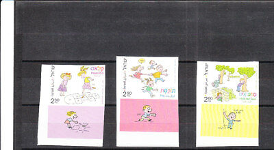 Israel 2011  Children's Games  Imperforated -Painting   Set Mnh Xf