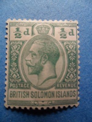 British Solomon Islands. KGV 1914 ½d Green Definitive. SG22. P14. MH.