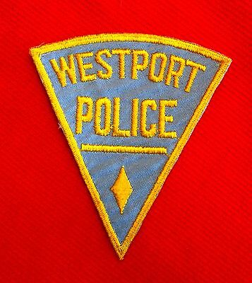Old Westport Connecticut Police Patch Obsolete Police Department Patch lsu7