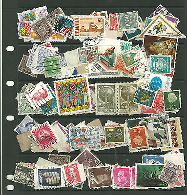 World 4 stock sheets stacked  mixed collection stamps