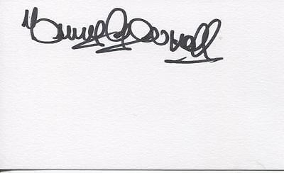 A Plain White Card Signed by Tommy Gemmell, Celtic, Nottingham Forest, Scotland