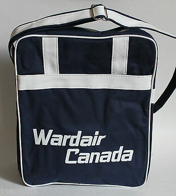 Vintage WARDAIR CANADA FLIGHT BAG / CARRY ON TOTE defunct airlines **MINT UNUSED