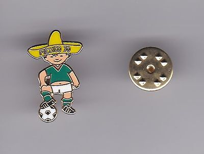 """Juanito"" - WC Mascot Mexico 1970  - lapel badge butterfly fitting"