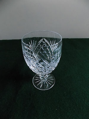 Vintage,Large/Heavy, HAND-CUT CRYSTAL RED WINE GLASS holds 10 fl.oz, weighs 13oz