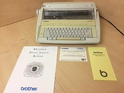Brother AX-100 Portable Electronic Typewriter & Instructions Fully Working