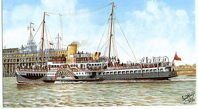 Paddle Steamer. Royal Eagle. Dunkirk Rescue Ship. Repro-Card. Free Postage