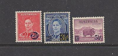 Australia 1941 surcharge set of 3 LMM