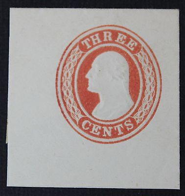 CKStamps: US Cut Square Stamps Collection Scott#U9 Unused H NG Full Corner