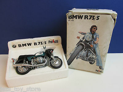 rare BOXED POLISTIL BMW R75/5 diecast MOTORCYCLE toy model 1/15 scale ITALY