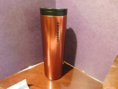 NEW 16oz Starbucks 2015 Matte Red Stainless Steel Double Wall Tumbler Coffee Mug