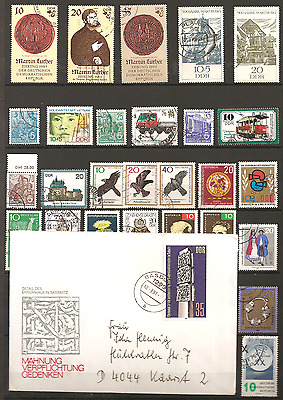 ALLEMAGNE. RDA. Lot timbres