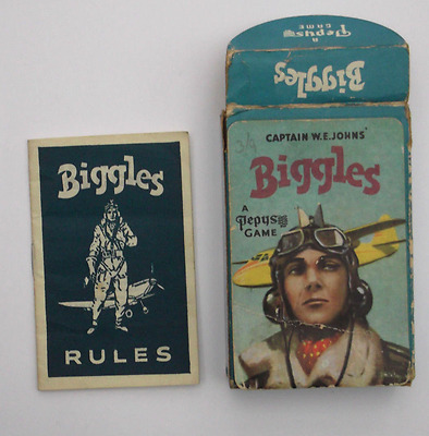 Vintage Pepys 1950s Captain W.E. Johns Biggles Card Game, complete.