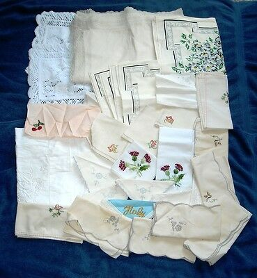Lot Of 100 Vintage Cutter Craft Table Runners Scarves Linens Napkins Doilies