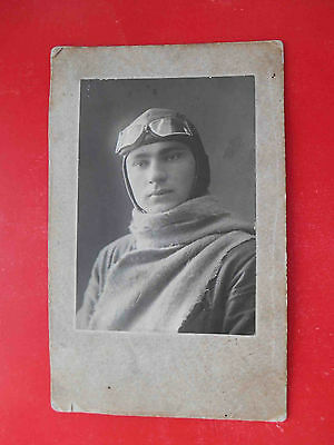 RUSSIA 1934  Russan Aviation Pilot,  Real photo, cardboard
