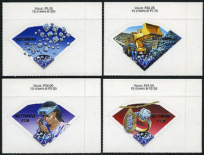 Botswana 710-713, Self-Adhesive, MNH. Diamonds, 2001