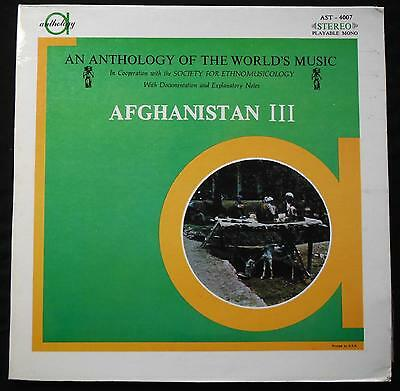 """AST 4007 - Anthology of the World's Music Afghanistan III - 12"""" LP Record Album"""