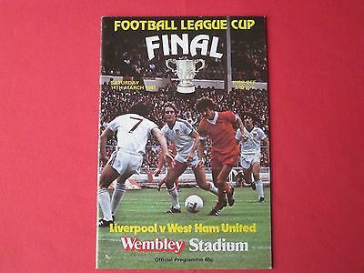 Liverpool v West Ham United - League Cup final football programme 1981
