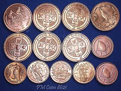 Isle Of Man Collection 2 & 1 pence coins, 2p & 1p 1980s & 1990s [8621]
