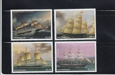 Nicaragua 1999 Sailing Ships Sc 2256-2259 Complete mint never hinged