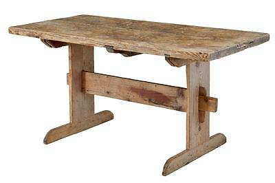 Early 19Th Century Pine Trestle Dining Table