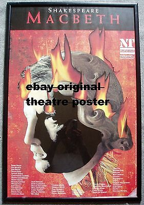 1993 Royal National THEATRE Vintage POSTER - MACBETH by William Shakespeare