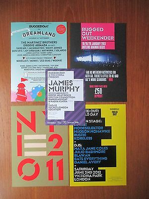 Bugged out club/rave flyer / flyers collection MINT - House / Techno