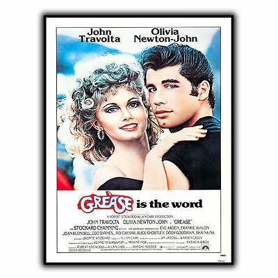 GREASE IS THE WORD METAL SIGN WALL PLAQUE Film Movie Cinema Advert poster print