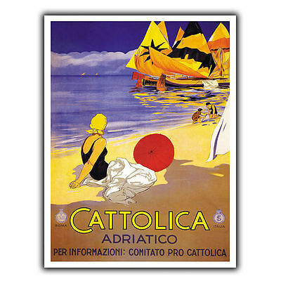 CATTOLICA ITALY METAL SIGN PLAQUE Vintage Retro Travel Holiday Advert poster