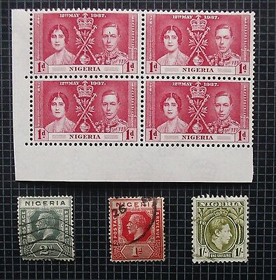 NIGERIA - Early Collection of MNH, MH & Used Stamps