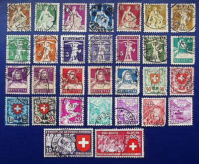 SWITZERLAND - 1910-1940 Collection of Used Stamps