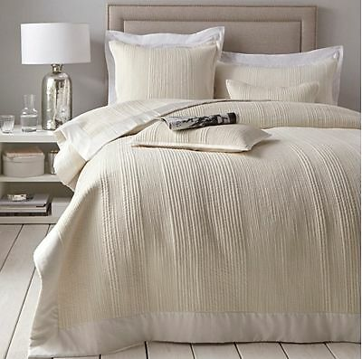 The White Company Milford Ivory Quilt / Bedspread / Throw Double £190 SOLD OUT