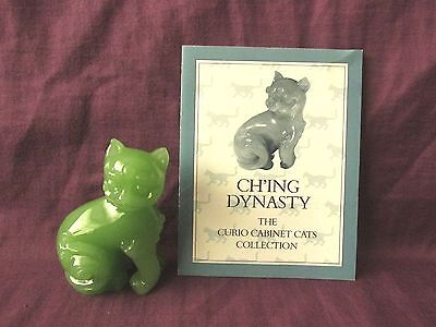Franklin Mint Curio Cabinet Cat - Ch'ing Dynasty - With Card - Circa 1988