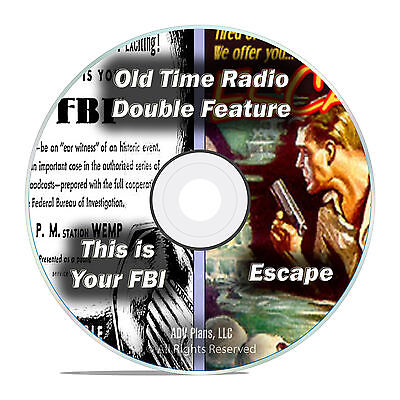 Escape + This Is Your FBI, 646 Episodes, Old Time Radio Shows, OTR, DVD CD F69
