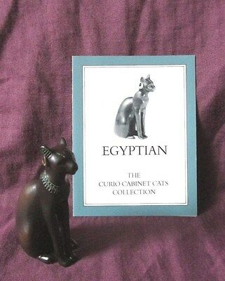 Franklin Mint Curio Cabinet Cat - Egyptian - With Card - Circa 1986
