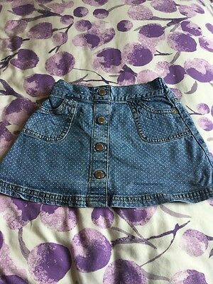 Girls Denim Skirt Bundle Age 12-18 Months M&S