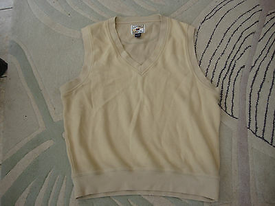 Vtg Cutter & Buck Usa Golf Cotton V Neck Vest  Size Large