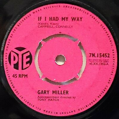 GARY MILLER - If I Had My Way / Moonlight Becomes You .. 1963 45rpm