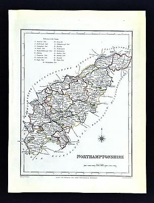 1831 Lewis Map England - Northamptonshire - Northampton Kettering Corby Daventry