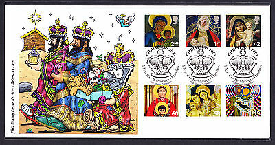 2005 GB Great Britain Phil Stamp First Day Cover FDC 3 Kings Christmas 79 of 100