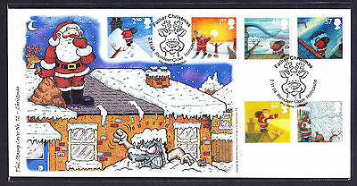 2004 GB Great Britain Phil Stamp First Day Cover FDC Santa Christmas 89 of 100