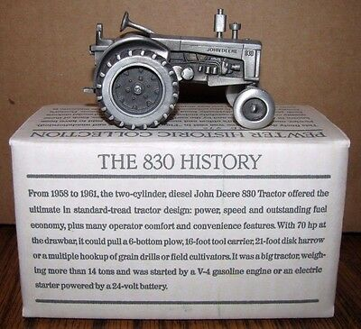 John Deere 830 Pewter Tractor Spec Cast Toy JDM009 Historic Collection jd WF
