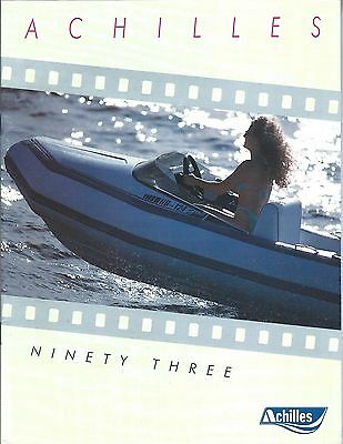 Boat Brochure - Achilles - Product Line Overview - Inflatable - 1993 (SH117)